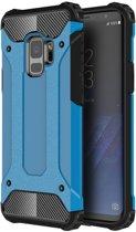 Samsung Galaxy S9 - Hybrid Tough Armor-Case Bescherm-Cover Hoes - Blauw