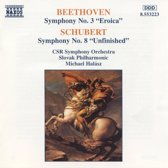 Beethoven: Symphony no. 3;  Schubert: Symphony no. 8