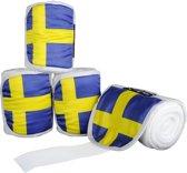 Polarfleecebandages -Flags- Set van 4 Vlag Zweden 300 cm