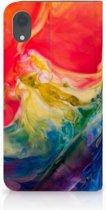 iPhone XR Bookcase met magneetsluiting Watercolor Dark