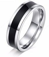 Montebello Ring Scirpus - Unisex - Staal - Acryl - 6 mm - Maat 58 - 18.5