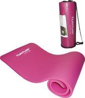 Tunturi NBR - Fitnessmat - Oefenmat met Draagtas - 180 cm x 60 cm x 1.5 cm -  Roze