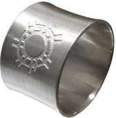 De zon. Zilveren ring 22mm