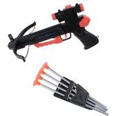 Lg-imports Kruisboog Met 4 Pijlen 28 Cm Zwart/rood