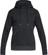 Under Armour Pursuit Microthread Pullover Hoodie 1317416-001, Mannen, Zwart, Sporttrui casual maat: XL EU