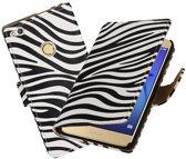 BestCases.nl Zebra booktype wallet cover hoesje voor Huawei P8 Lite 2017 / P9 Lite 2017