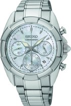 Seiko SRW807P1 horloge dames - zilverkleurig - edelstaal