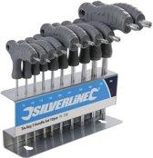 Silverline Chroom Vanadium Torx Sleutels Met T-Handvat 10-Delig T9 t/m T50