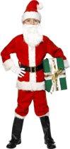 Kinder kerstman kostuum luxe 128-140 (7-9 jaar)