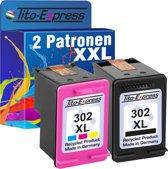 PlatinumSerie® spaar set 2 cartridges alternatief voor HP 302 XL black & color