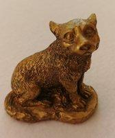 Beeld Gouden hond - resin 1 stuk