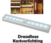 ProLED - Kastverlichting - Met bewegingssensor - 19cm lengte - Draadloos - Werkt op AAA batterijen - LED kastverlichting - Kluslamp - Klusverlichting - Keukenverlichting - Bedverlichting - Kast licht - LED strip - LED trapverlichting met sensor