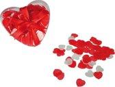 Hartjes bad confetti 20 gram in hartjes doosje