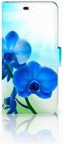 Huawei P10 Plus Uniek Hoesje Orchidee Blauw