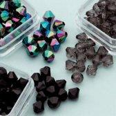 Diamond Shape Trio - Ø6mm - 4 grs x 6 doosjes - Donker Bruin en Zwart