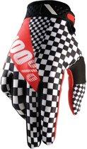 100% Ridefit Legend fietshandschoenen rood/zwart Maat S