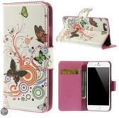Butterfly wit wallet case hoesje iPhone 6 4,7