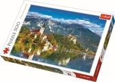 Het meer van Bled, Slovenië, 500 stukjes Puzzel