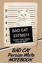Bad Cat Persian White Notebook
