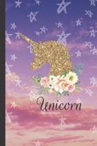 Unicorn Lined Notebook: College Ruled Journal (6x9'' 100+ Pages)
