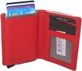 OI portemonnee met Figuretta en ruimte voor biljetten en kleingeld rood