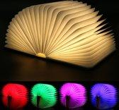 FOOCCA® Boek lamp - LED 5 kleuren - Openklapbaar - Ideaal als bureaulamp, nachtlamp, leeslamp, tafellamp, muurlamp, binnenverlichting, sfeerverlichting - Oplaadbaar.