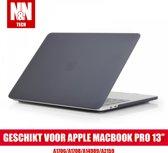 N&N Hardcover Case Geschikt voor Apple Macbook Pro 13'' - Doorzichtig Grijs