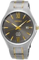 Seiko SNE409P1 horloge heren - zilver en goud - titanium