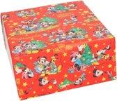 Kerst inpakpapier van Disney Mickey Mouse blauw 70 x 200 cm - kinder cadeaupapier