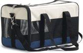 Beeztees Draagbare Reistas Voor Katten - Nylon - Creme/Blauw