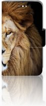 Huawei Y360 Uniek Boekhoesje Leeuw Met Opbergvakjes