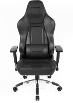 AKRACING Gaming Chair Office - PU Leather Obsidian/Carbon Zwart