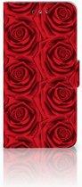 LG G7 Thinq Uniek Boekhoesje Red Roses