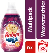Robijn Intense Fuchsia Passion Vloeibaar - 228 wasbeurten - 6 x 570 ml - Wasverzachter