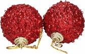 6 rode kerstballen 5 cm