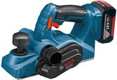 Bosch Professional GHO 18 V-LI Accu schaafmachine - Met 2x 5,0Ah accu's, GAL 1880 CV snellader en L-BOXX