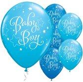 Ballonnen 'Baby Boy' Blauw - 5 stuks