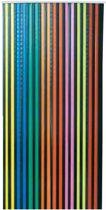 Voordelige vliegengordijn Linten multicolor/zwart 90x220