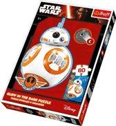 Puzzel Star Wars BB-8 glow in the Dark, 60 stukjes