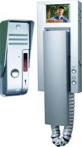 Smartwares VD54A - Video deurintercom set voor 1 appartement - 4 draads - 2-weg audio communicatie - Grijs