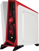 Corsair SPEC-ALPHA Midi-Toren Rood, Wit computerbehuizing