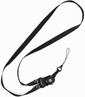 CSC Touwtjes voor Telefoon Hoesjes, Fluitje of Badge Zwart