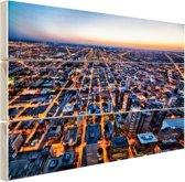 Chicago gebouwen Hout 60x40 cm - Foto print op Hout (Wanddecoratie)
