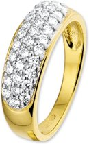 The Jewelry Collection Ring Zirkonia - Bicolor Goud (14 Krt.)