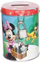 Disney Mouse spaarpot rood