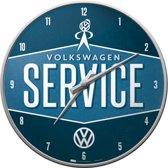 Volkswagen VW Service Wandklok 30 cm