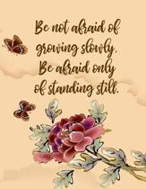 Be Not Afraid Of Growing Slowly, Be Afraid Only Of Standing Still
