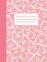 Cute Piggies: College Ruled Composition Notebook
