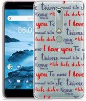 Nokia 6 2018 Hoesje I Love you