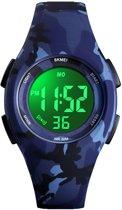 Kinderhorloge – Stopwatch – Waterdicht – Digital Watch – Camouflage Blauw